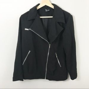 Sparkle & Fade Jackets & Coats - (Sparkle & Fade) Black Motto Jacket